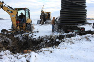 Connecting a Seepage Line